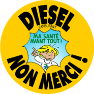 Autocollant Diesel non merci !